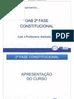 Material de ApoiMaterial de Apoio - Direito Constitucional - Nathalia Massono - Direito Constitucional - Nathalia Masson - Apresentacao Do Curso