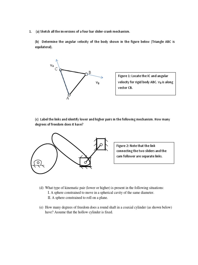 Practice problems mechanisms 2 kinematics velocity ccuart Image collections