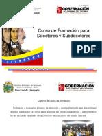 Curso de Formación Directores y Subdirectores