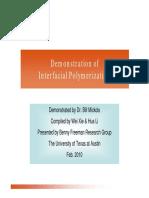 Inter Facial Polymerization Demonstration