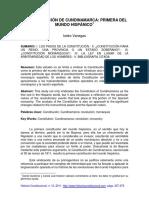 La Constitución de Cundinamarca Primera Del