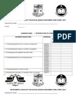 Senarai Semak Instrumen Pentaksiran Sains Pbs Tingkatan 1 2012