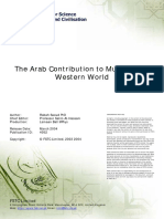 Arab Contribution to Music of the Western World