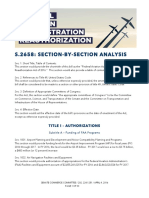 Section-by-section bill guide