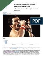 Freddie Mercury Voice