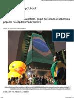 Fim Da Nova República_ – Blog Da Boitempo