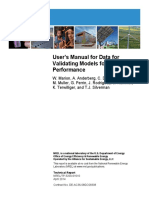 NREL () User's Manual for Data for Validating