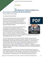 ConJur - A solitária voz de Adaucto Lúcio Cardoso e o processo constitucional