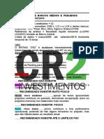 Bancos M e P_RATING CR2