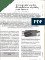 Effetto del trattamento termico superficiale sulla resistenza al pitting di ruote dentate