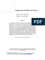 Referendum Design, Quorum Rules and Turnout