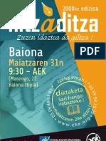 hitzaditza 2008 afitxa