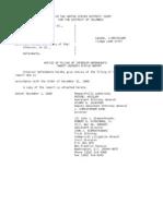 US Department of Justice Court Proceedings - 11012006 notice
