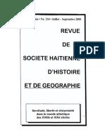 Revue de la societe haitienne d'histoire et de geographie