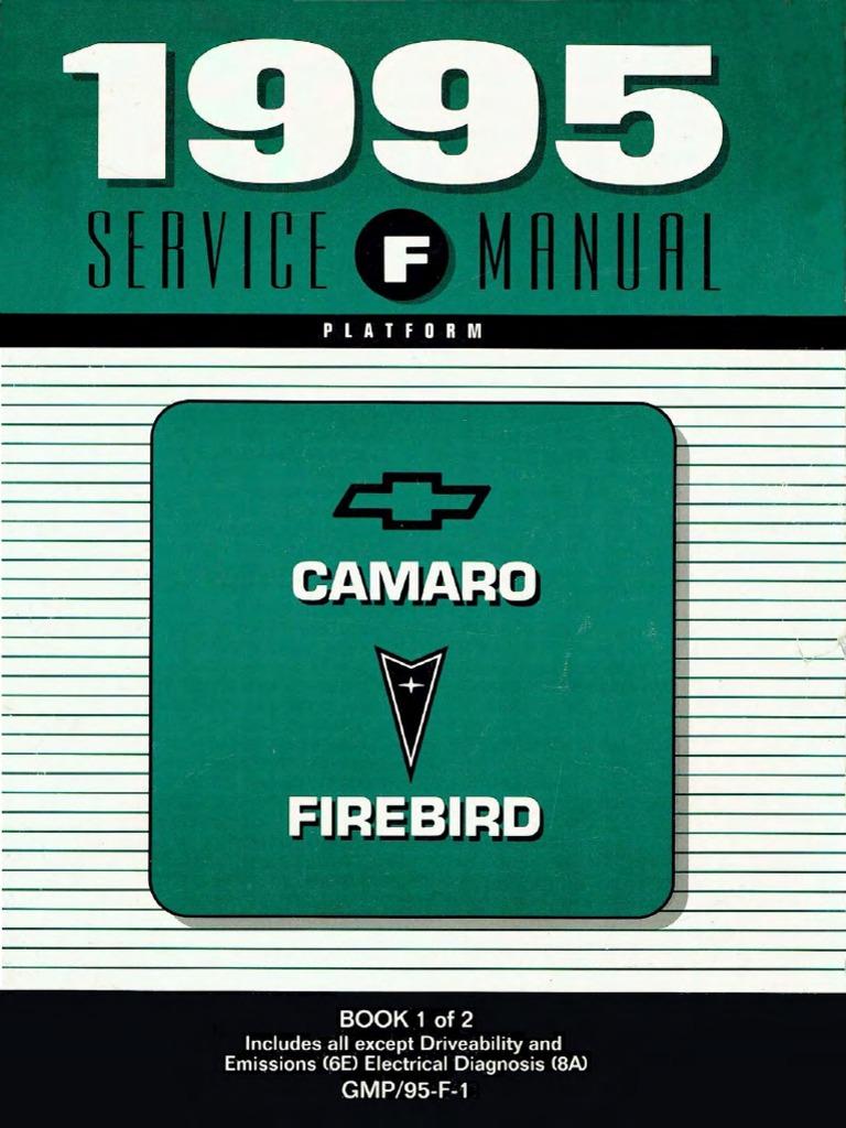 1995 chevrolet camaro pontiac firebird service manual volume 1 rh scribd com 1991 Camaro 1991 Camaro
