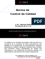 Control de Calidad Panel CCPM 34 de Noviembre 2013