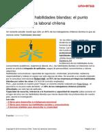 Dominio Habilidades Blandas Punto Debil Fuerza Laboral Chilena