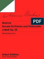 Cello Sonata Op. 38 (Brahms)