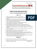 EE6501 PSA Unit - IV Anna Univ Questions May 2011 - May 2015 05e7b