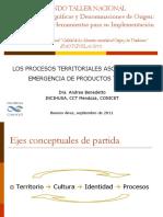LOS PROCESOS TERRITORIALES ASOCIADOS A LA  EMERGENCIA DE PRODUCTOS TÍPICOS