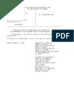 US Department of Justice Court Proceedings - 11152005 notice