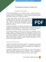 Resumen de Planeamiento Estratégico y Prospectivo