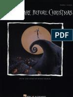 Danny Elfman the Nightmare Before Christmas Piano Sheet