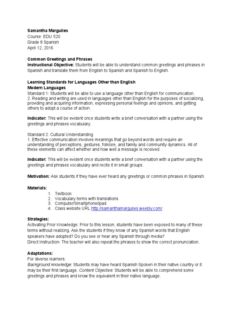 Edu 520 lesson 3 common greetings and phrases english language edu 520 lesson 3 common greetings and phrases english language vocabulary m4hsunfo Choice Image
