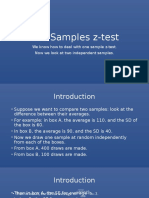 Two Samples Z-test