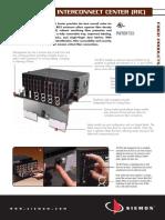 Siemon RIC-XXXX Rack Mount Interconnect Center Spec-sheet
