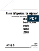 Manual de Operation Jlg 1200 SJP 1350 SJP PARA CURSO