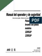 Manual de Operation Jlg 1200 SJP 1350 SJP PARA CURSO