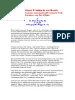 Uranium Association With Coal