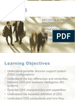 DECISION SUPPORT SYSTEMS CONCEPTS, METHODOLOGIES, AND TECHNOLOGIES