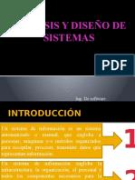 Analisis y Diseño de Sistemas Clase 1