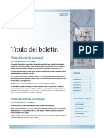 Plantilla Publisher