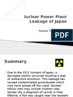 nuclear power plant leakage of japan