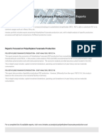 Polyethylene Furanoate Plant Cost