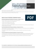 Polyethylene Terephthalate Plant Cost