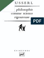 Edmund Husserl La Philosophie comme science rigoureuse  1998.pdf