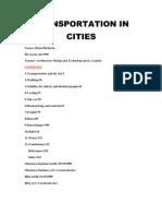 """Transportation in Cities"" book summary"