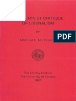 The Feminist Critique of Liberalism-1997