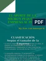 Aporte de La Micro y Pequeña Empresa 1CLASE