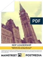 Mainstreet - NDP Leadership
