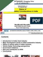 ARAI India NVM_Vehicle Safety in India_4th AAI Summit China