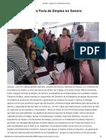 14/04/16 Inaugura Feria de Empleo en Sonora -Eitmedia