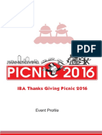 IBA Thanks Giving Picnic 2016 Sponsorship Proposal