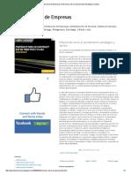 Administracion de Empresas_ Diferencias Entre El Pensamiento Estrategico y Tactico