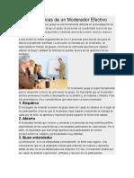 5 Características de Un Moderador Efectivo