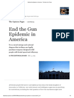 End the Gun Epidemic in America - The New York Times